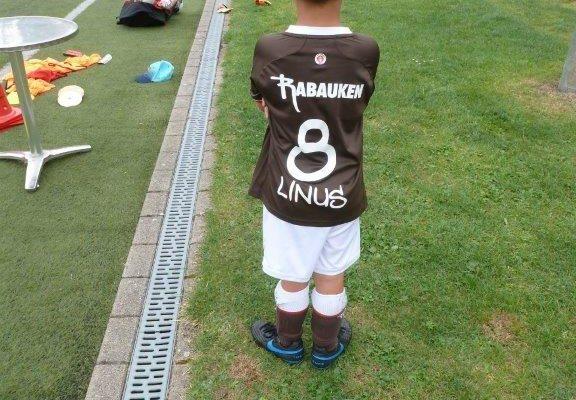 einer der Kleinsten mit fünf Jahren... Linus